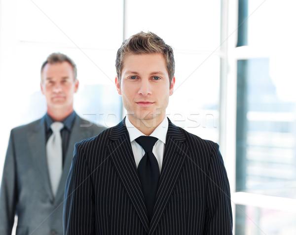 Bir kıdemli iş tartışma iki iş adamı Stok fotoğraf © wavebreak_media