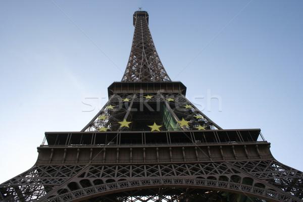 Eyfel Kulesi seyahat Retro çelik tatil tatil Stok fotoğraf © wavebreak_media