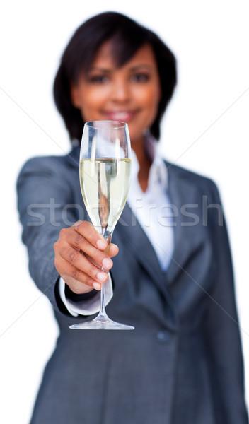 Businesswoman toasting with Champagne Stock photo © wavebreak_media