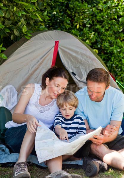 Familie camping tuin natuur kind zomer Stockfoto © wavebreak_media