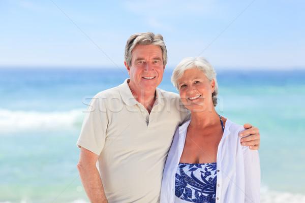 Anziani uomo moglie Coppia piedi Foto d'archivio © wavebreak_media