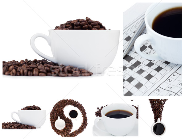 Coffee collage and ying yang symbol Stock photo © wavebreak_media
