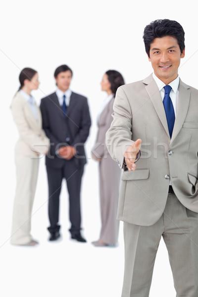 Zakenman collega's achter hand witte business Stockfoto © wavebreak_media