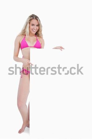 Gülen poster beyaz eğlence Stok fotoğraf © wavebreak_media