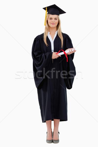 öğrenci mezun elbise diploma Stok fotoğraf © wavebreak_media