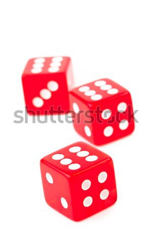 Two red dices in motion against a white background Stock photo © wavebreak_media