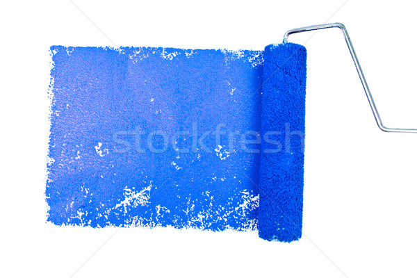 One blue trace of painting against a white background Stock photo © wavebreak_media