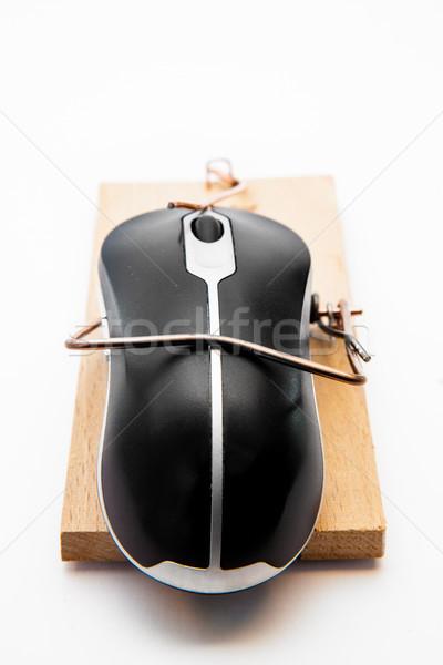 Számítógép egér fehér egér technológia fekete tárgy Stock fotó © wavebreak_media