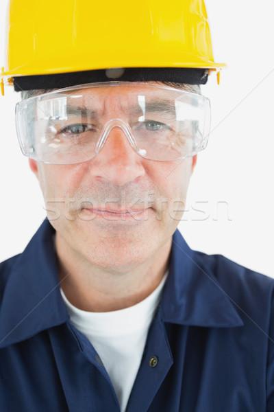 Técnico gafas casco de seguridad primer plano retrato Foto stock © wavebreak_media