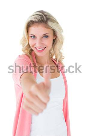 Retrato feliz casual mulher jovem cabelo loiro branco Foto stock © wavebreak_media