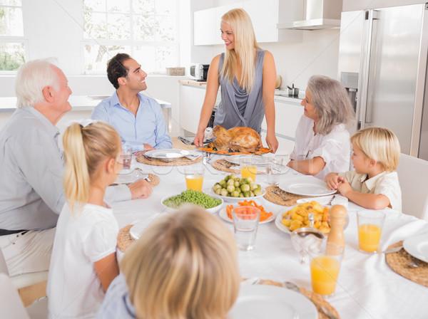 Familie naar moeder Turkije plaat diner Stockfoto © wavebreak_media