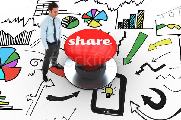 Dijital oluşturulan kırmızı düğme kelime Stok fotoğraf © wavebreak_media