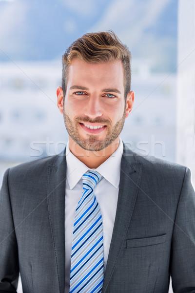 Portre yakışıklı genç işadamı bulanık ofis Stok fotoğraf © wavebreak_media