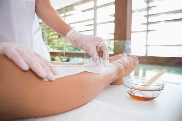 Kadın bacaklar güzellik terapist otel Stok fotoğraf © wavebreak_media