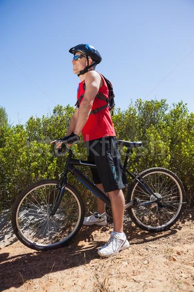 Montare uomo ciclismo montagna percorso Foto d'archivio © wavebreak_media