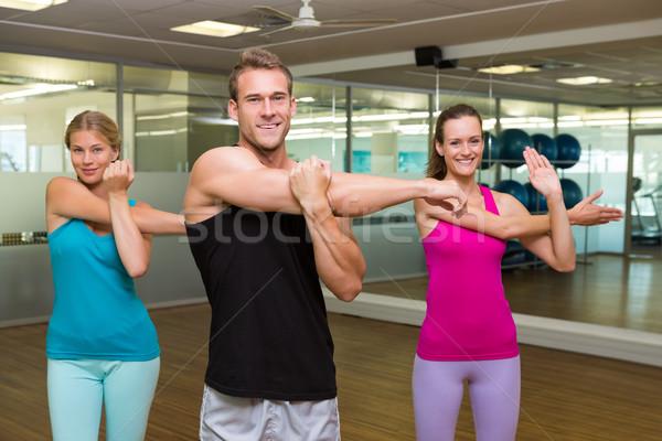 フィットネス クラス ハンサム インストラクター ジム 幸せ ストックフォト © wavebreak_media
