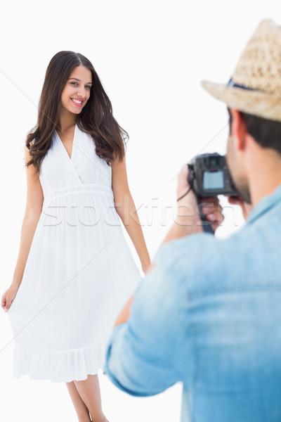 Foto mooie vriendin witte Stockfoto © wavebreak_media