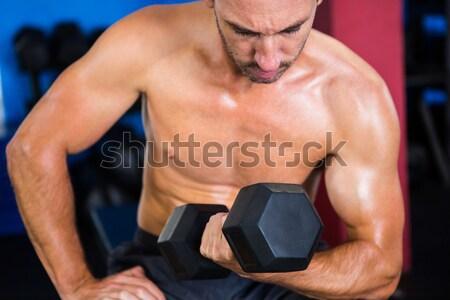 Sin camisa muscular hombre Foto stock © wavebreak_media