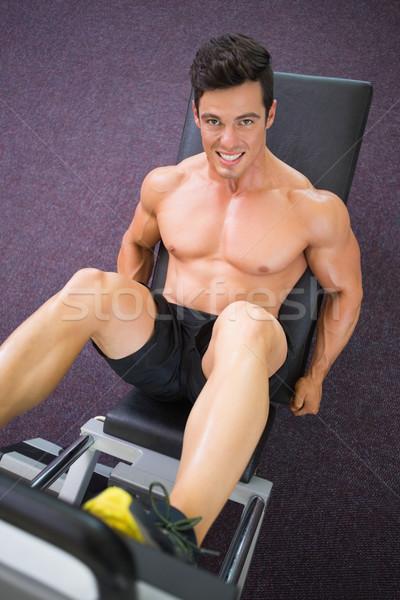男性 脚 ジム 表示 ストックフォト © wavebreak_media