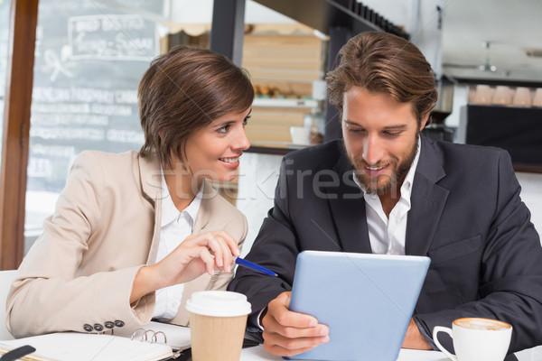 Negocios colegas de trabajo romper Cafetería café Foto stock © wavebreak_media