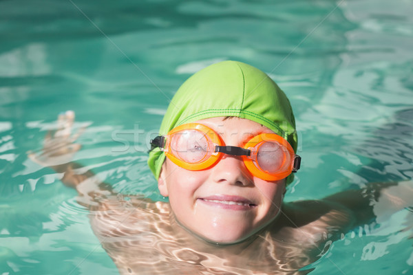 Cute kid swimming in the pool Stock photo © wavebreak_media