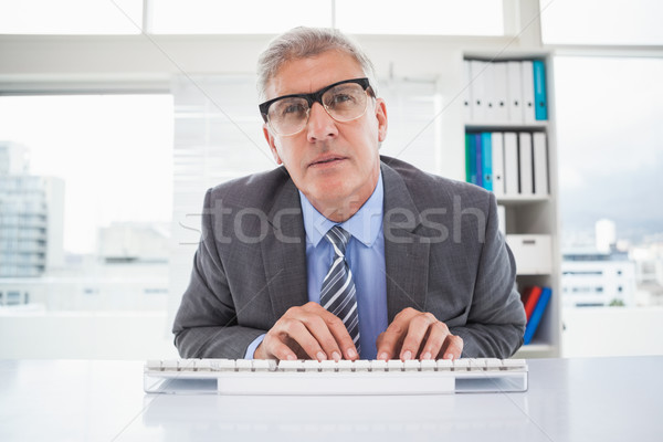 Gericht zakenman typen bureau kantoor business Stockfoto © wavebreak_media