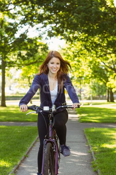 довольно Велоспорт велосипедов здоровья Сток-фото © wavebreak_media