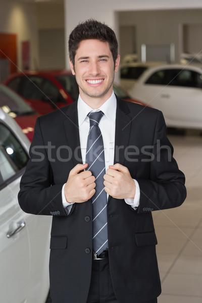 Handsome businessman in suit stading Stock photo © wavebreak_media