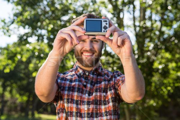 Handsome hipster taking a selfie Stock photo © wavebreak_media