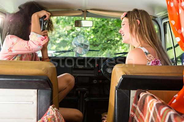 Happy friends on a road trip Stock photo © wavebreak_media