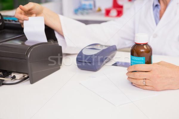 Farmaceuta jar muzyka paragon apteki Zdjęcia stock © wavebreak_media