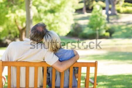 Man ontrouw park vrouw paar Stockfoto © wavebreak_media