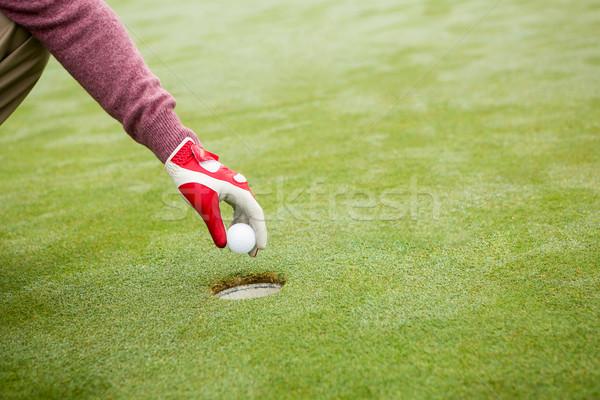 Golfer trying to flick ball into hole Stock photo © wavebreak_media