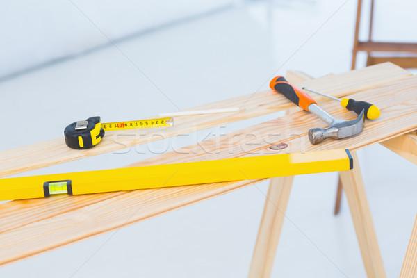 Construction tools on workbench Stock photo © wavebreak_media