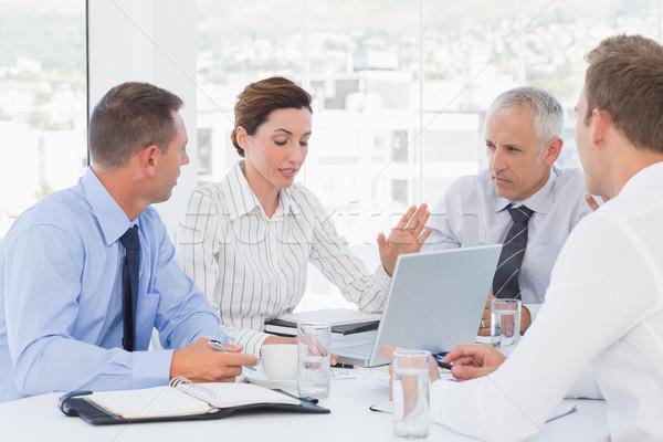 Zespół firmy spotkanie biuro kobieta papieru technologii Zdjęcia stock © wavebreak_media