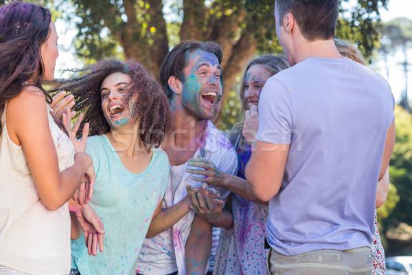 Amici polvere vernice donna Foto d'archivio © wavebreak_media