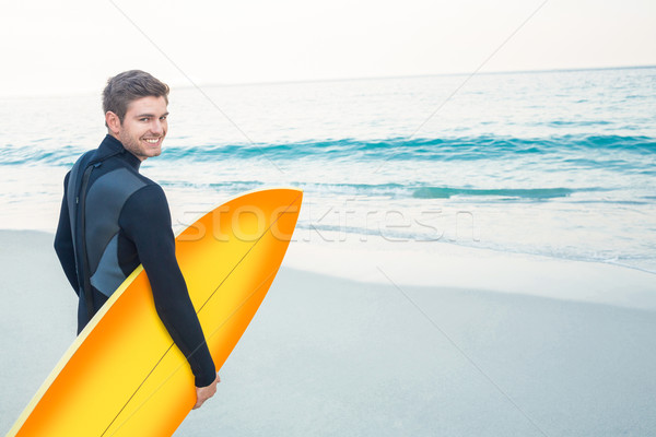 Man surfboard sport zee gratis Stockfoto © wavebreak_media