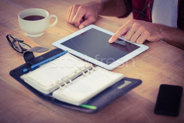 Yaratıcı işadamı tablet ofis iş adam Stok fotoğraf © wavebreak_media