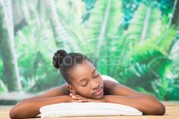 Pretty woman massaggio tavola donna corpo Foto d'archivio © wavebreak_media