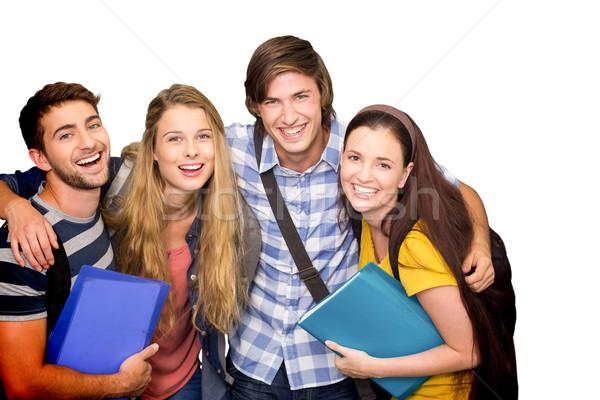 Image élèves dossiers collège Photo stock © wavebreak_media
