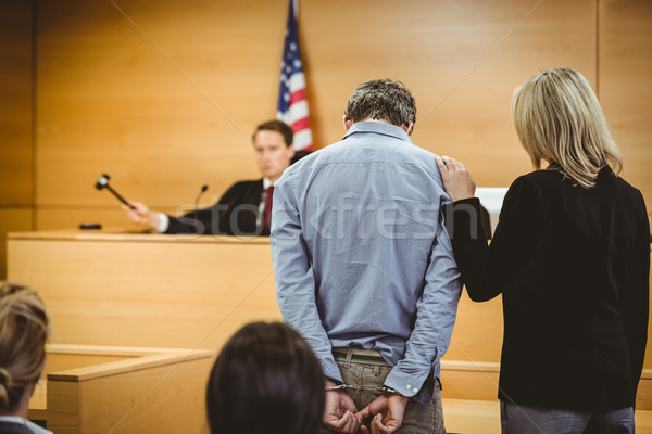 Juez explosión martillo tribunal habitación ley Foto stock © wavebreak_media