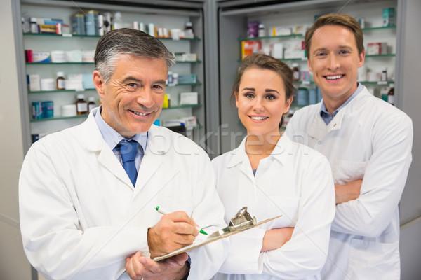 команда улыбаясь камеры больницу аптека медицинской Сток-фото © wavebreak_media