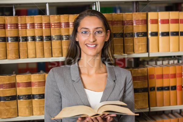 Avvocato lettura libro legge biblioteca Università Foto d'archivio © wavebreak_media