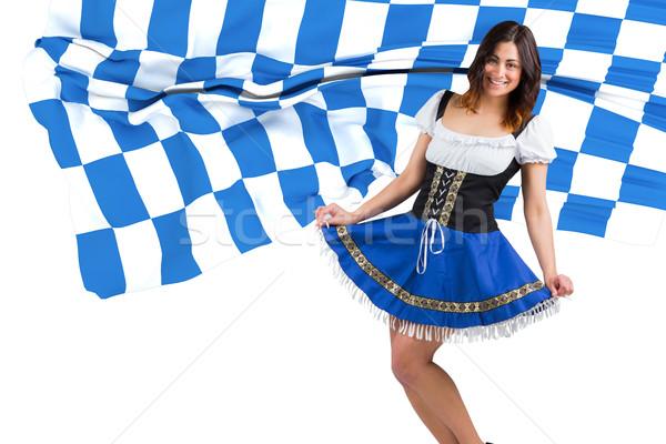 összetett kép csinos Oktoberfest lány szoknya Stock fotó © wavebreak_media