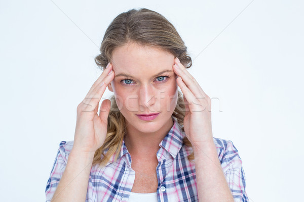 Pretty hipster with headache  Stock photo © wavebreak_media