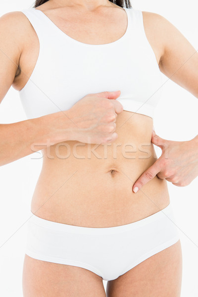 Caber mulher tocante doloroso estômago branco Foto stock © wavebreak_media