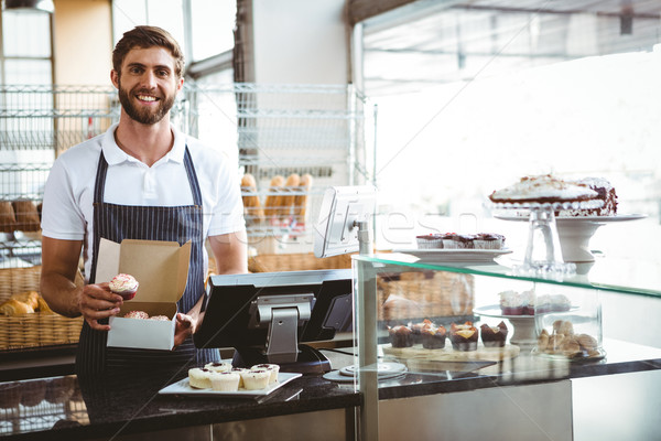 улыбаясь работник бизнеса продовольствие сервер работу Сток-фото © wavebreak_media