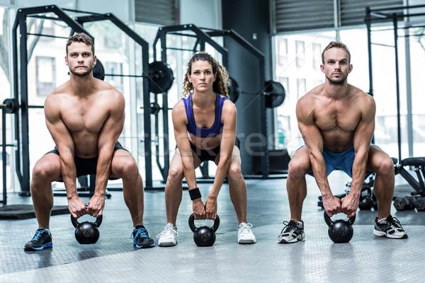3  筋肉の アスリート リフト 鐘 ストックフォト © wavebreak_media