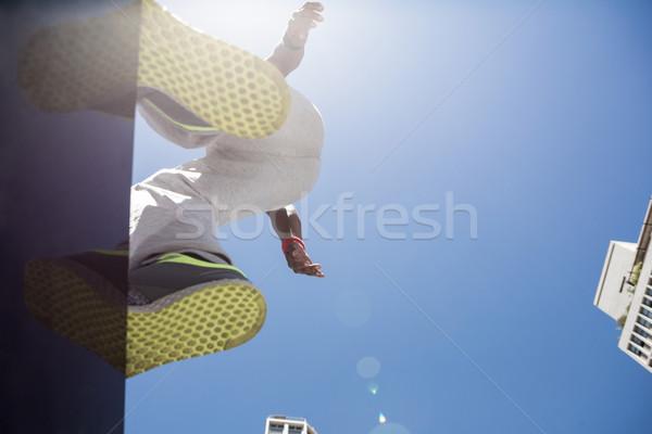 アスレチック 男 戻る 建物 市 スポーツ ストックフォト © wavebreak_media