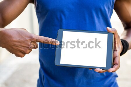 Atletisch man stad gelukkig sport Stockfoto © wavebreak_media